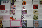 pack 50 florist cards anniversary / baby / funeral / get well / blank / birthday