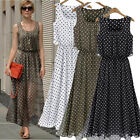 NEW LADIES SUMMER LONG MAXI DRESS SKIRT SZ8-18 CHIFFON EVENING PARTY BOHO BEACH