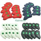 HOT10xCOVER PU Leather Golf Iron Headcovers For Callaway Taylormade TitleistPing