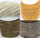 5m/100m Silver/Golden/Bronze Tone Metal Ball Round Chain  For Necklace Fingdings