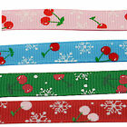 """5 Mtr's of Grosgrain Christmas Ribbon Berry - 10mm (3/8"""") width.Various Colours"""