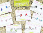 CROSS Birthstone Small EARRINGS Child 1st First Communion Teen Confirmation Tiny