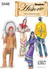 ADULT'S NATIVE AMERICAN HALLOWEEN COSTUME SEWING PATTERN S5446