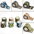 5CM X 4.5 METRE CAMO WRAP RIFLE GUN HUNTING CAMOUFLAGE STEALTH TAPE 5 STYLE