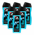 NEW ADIDAS ICE DIVE 2 IN 1 HAIR & BODY SHOWER GEL 250ML THREE & SIX PACK