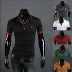 Men's Polo Shirt Short Sleeve Slim Fit Lapel Collar Designed Tee T-shirts Tops
