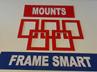 RED picture/photo mounts, ALL SIZES, 5x5 to 20x16 to fit 3x3 to 16x12