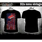 Down2Scrap Black MMA Vintage T Shirt S M L mens men XL new cross biker  pro