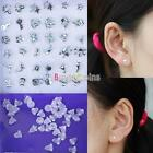18 Pairs Wholesale Mix Silver Sterling Plated Plastic Ear Stud Earring DH