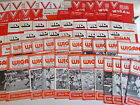 Wigan Rugby League Home Programmes 1970 - 1981 Choose individual programmes