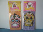 Day of the Dead Skull Shaped Home or Car Air Freshener Cherry or Lemon Scented