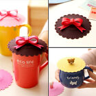 Cute Bow Cat Silicone Airtight Cup Cover Sealed Coffee Mug Lid Cap