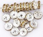 50pcs Champagne Color Crystal Rhinestone Spacer Beads 10mm Dia