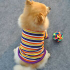 Summer Colorful Stripe Small Dog Cat Pet Puppy Clothes Vest Apparel Clothes  B15