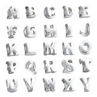 925 Sterling Silver ALPHABET LETTER INITIAL Charm Bead Fits ALL Charm Bracelet