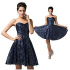 Luxury Sequin Bridesmaid Prom Gown Formal Pageant Homecoming Party Evening Dress
