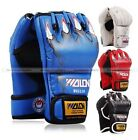 Half-finger Fight MMA UFC Boxing Gloves Mitts Grapple Sanda Muay Thai Mitten