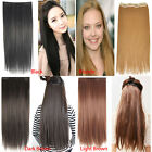 HAIR EXTENSIONS CLIP IN ON HAIR EXTENSION LONG STRAIGHT WAVY COLOURED FULL HEAD