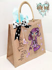 Personalised Jute Bag Hand Painted Dottie Heart XL- Imogen