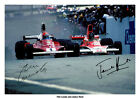 JAMES HUNT SIGNED PRINT PHOTO AUTOGRAPH POSTER PICTURE 1976 NIKI LAUDA F1 RUSH