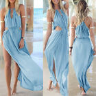 Sexy Women Summer Boho Long Maxi Evening Party Dress Beach Dresses Sundress UK