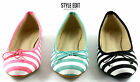 LADIES WOMENS BOW SUMMER PUMPS BALLERINA BALLET DOLLY FLAT SHOES SIZE MLH2071
