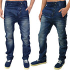 Mens Designer Humor Jeans Nixon Drop Crotch Tapered Fit Trendy Washed Out Denim