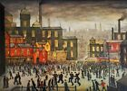 Lowry Our Town Stretched Canvas Multi Size Wall Art Poster Print Painting