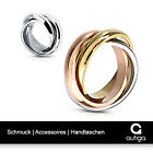 Ring Edelstahl Damen Herren Tricolor Triple 3 in 1 Dreierring