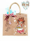 Personalised Jute Bag Hand Painted - Baking Betty XL