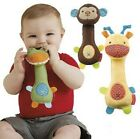 Baby Rattles Toys Animal Design Boys Girls Plush Classic Educational BB Handbell