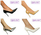 Women's classic pointy toe power pumps 4 inch stiletto high heel shoes