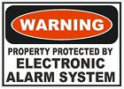Electronic Alarm System Sticker Home Work Safety Business Sign Decal Label D242