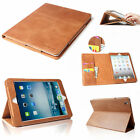 Premium Smart 100% Real Genuine Leather Folio Case For iPad 2 3 4 Magnetic Cover