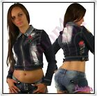 Sexy Ladies Tattoo Jeans Jacket Women's Crazy Age Jacket Size 8,10,12,14 UK