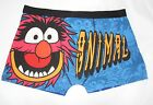 bnwt Disney The Muppets Mens Cartoon Character Animal Blue/Multi Boxers UK S