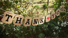 Vintage Just Married Thank You Wedding Banner Bunting Shabby Venue Decoration