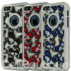 Stylish Butterfly Diamand Bling Case Cover For The iPhone 4 4S 5 5S Free Screen