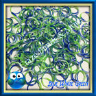 NEW Swirly Camouflage Blue White Green Tie Dye Color Rubber Band 4 Rainbow Loom