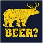 BEER BEAR T-SHIRT it's always sunny Funny Mens womens outdoors hunting T-SHIRT