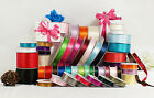 "MADE IN TAIWAN Double Face Satin Ribbon Polyester 39 Colors 1/16"" 1/8"" Spool"