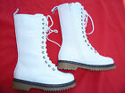 WHITE BOOTS SHOES YOUTH KIDS GIRLS ALYSON SIZE 9-4
