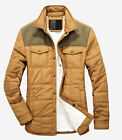 Fashion Mens Warm Jacket Winter Fully fur lined Coat Military Slim Outerwear