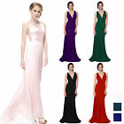 Sexy V Neck Womens Ball Gown Evening Bridesmaid Wedding Party Prom Long Dress .
