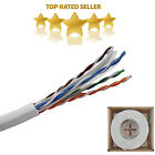 1000FT WHITE CAT6 SOLID CABLE LOT WIRE UTP ETHERNET BULK NETWORK DISCOUNT