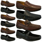 NEW MENS LEATHER LOOK DESIGNER SHOES ITALIAN LOAFERS CASUAL MOCCASIN BOAT BOOTS