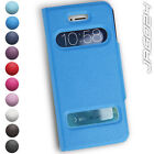 iPhone 5 5s Case Touch Faux Leather Skin Window Flip Cover Mobile Apple Phone