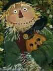 If I Only Had a Brain Scarecrow Jack O Lantern Fall Autumn Halloween Crow Art