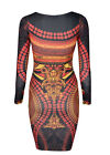 Vintage Silm Fit Tribal Bodycon Party Cocktail Evening Dresses Red Carpet Dress