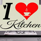 I Love Kitchen Wall Sticker transfer Decal (ART1)  decor decal